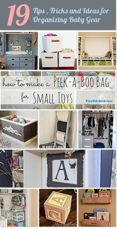 19 valuable tips, tricks and ideas for organizing all your baby stuff!