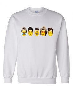 1D One Direction Emoji Crewneck Sweatshirt