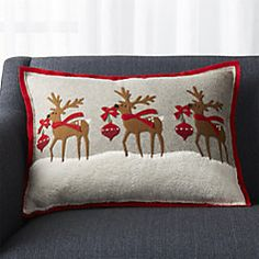 41db5c638b8 Holiday Reindeer Pillow with Feather-Down Insert 22