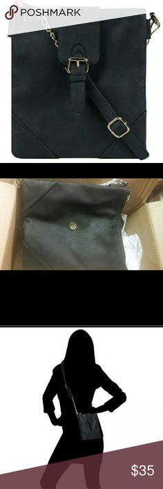 Black Rivet Purse/Handbag (black) Black Rivet Purse/Handbag (black) Black Rivet Bags Crossbody Bags