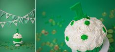 This little leprechaun had so much fun at his first birthday, St. Patrick's Day cake smash session. Even though his birthday isn't for another week, we decided to celebrate early! He is actually my second client who shares a birthday with the St. Patrick's Day holiday, crazy huh?!  I was over joyed…