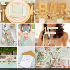Aisle Ready | Mint, Pink and Gold Wedding Inspiration