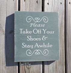 No Shoes Sign, Please Remove Your Shoes Sign, Front Door Sign, Gift For New Mom by DashofFlair