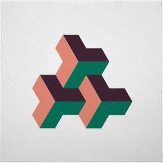 #324 Solid rhythm – A new minimal geometric composition each day