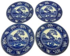 Wedgwood Fallow Deer Plates, Set of 4