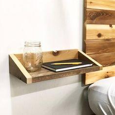 Bed Shelves, Table Shelves, Rustic Shelves, Floating Shelves, Shelf, Wall Shelving, Furniture Plans, Wood Furniture, Hanging Furniture