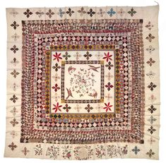 Wow. The Rajah quilt, sewn by convict women on board HMS Rajah during their transportation to Van Diemen's Land in 1841. #quilting #quilts #patchwork