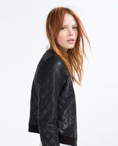 ZARA - WOMAN - LEATHER BOMBER JACKET