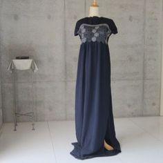 兵児帯のロングワンピース/着物リメイク Bridesmaid Dresses, Wedding Dresses, Sewing Techniques, Kimono, Formal Dresses, Creema, Style, Upcycle, Patterns