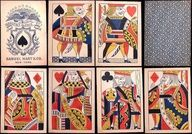 Spice up your game of solitaire with this vintage deck of cards