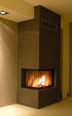 krbová vložka Modern Fireplace, Fireplace Design, Stone Ridge, Stove Fireplace, Log Burner, Interior Design Living Room, Foyer, House Design, Architecture