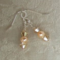 KAYLA EARRINGS -Sterling Silver Swarovski Crystals and Pearls