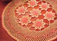 floral doily - pretty ~ free patterns