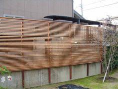 木製目隠しフェンス 横板
