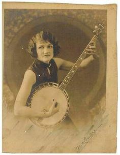Antique Photograph Woman Banjo | eBay