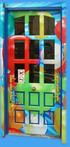 Multi-color Fun Door