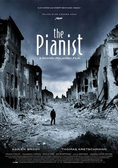 The pianist so hard to watch, knowing it is true, so powerful, lets you really see what was destroyed. That he survived I am grateful.
