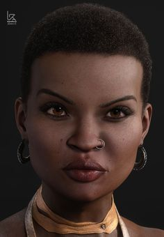 """3D Character Concept. Just done doing this original female model. I call her """"Zendaya"""". Done using Zbrush, Substance painter, Keyshot and photoshop"""