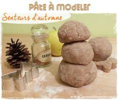 Recette de pâte à modeler pomme cannelle pour l'automne DIY Testée et super !!!