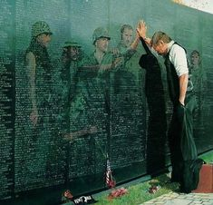 Vietnam War Veteran at the Wall.. One of my favorites