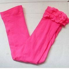 Girl leggings summer stretch Kids Lace Leggins skinny capris Pants Candy color Elastic Velvet Girls Trousers for children 3-10Y