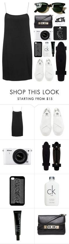 """""""Baby we both know"""" by arditach ❤ liked on Polyvore featuring Boutique, adidas, Nikon, Calvin Klein, shu uemura, Proenza Schouler, Topshop, Ray-Ban, women's clothing and women"""
