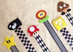 Mario felt Pacifier clips!