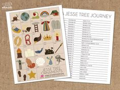 christmas Free Printable Jesse Tree Ornaments Article Physique: Have you ever ever checked out a pro Advent Activities, Christmas Activities, Christmas Traditions, Kids Christmas, Christmas Ornaments, Christmas Decorations, Catholic Traditions, Christmas Printables, Christmas Christmas