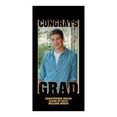 Congrats Grad Autograph Custom Photo Door Cover - OrientalTrading.com