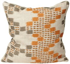 "Morocco 18"" Square Orange Designer Pillow -"