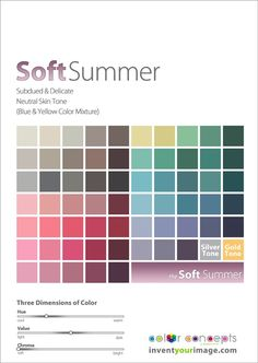 Soft Summer Color Palette (linked from http://expressingyourtruth.blogspot.co.uk/2013/02/invent-your-image.html)
