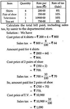 ICSE Solutions for Class 10 Mathematics - Sales Tax and Value Added Tax - A Plus Topper Maths Ncert Solutions, Value Added Tax, Math Vocabulary, Math Formulas, Sales Tax, State Government, Study Materials, Math Lessons, Teaching Math