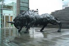 Sculptures d'animaux fabriquées à partir de vieux pneus Par l'artiste coréen Ji Yong Ho