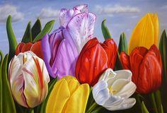 Tulipanes Венесуэльский художник-реалист Эллери Гутиэррес (Ellery Gutierrez)