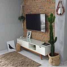Eu simplesmente fiquei encantada com a salinha da linda linda 😍 Living Room Tv, Interior Design Living Room, Home And Living, Decor Interior Design, Bedroom Decor, House Design, Decoration, Home Decor, Ideas
