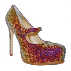Rhinestone Pumps. $950.00, via Etsy.