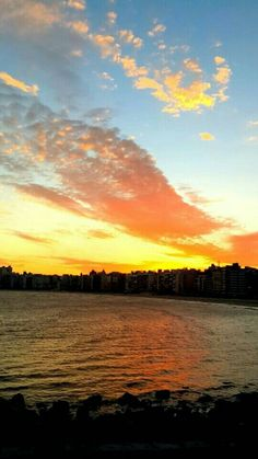 Amazing summer sunset in Montevideo