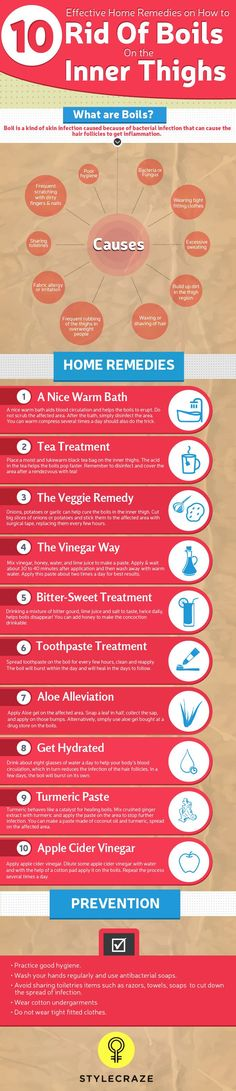 13 Effective Home Remedies To Get Rid Of Boils On the Inner Thighs Here are some easy-to-administer home remedies for boils that you can use to rid your body of these pesky boils Holistic Remedies, Natural Home Remedies, Natural Healing, Herbal Remedies, Health Remedies, Natural Skin, Home Health, Health And Wellness, Health And Beauty Tips