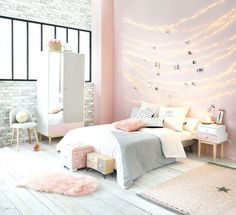 bedroom ideas 30 Chic And Unique Pink Bedroom Design And Decorating Ideas for Teen Girl – Home and Apartment Ideas Light Pink Bedrooms, Cool Teen Bedrooms, Pink Bedroom Decor, Teen Bedroom Designs, Teenage Girl Bedrooms, Teenage Room, Modern Bedroom Design, Room Ideas Bedroom, Small Room Bedroom