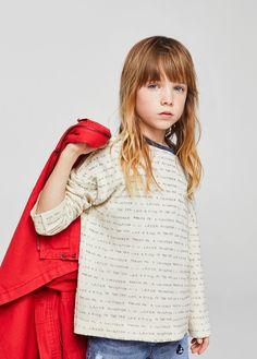 Sudadera algodón orgánico mensajes - Niña | MANGO Kids España