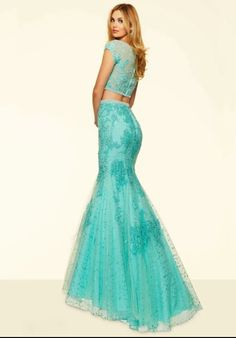 Sea green indowestern party dress