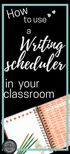 Manage your writing workshop time and schedule writing projects with your students easily by using a writing scheduler.  This helps you and your students manage their time.  Students learn the writing process -- and you can pace your lesson plans accordingly.  This blog posts includes a nifty freebie and example you can use!