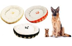 Bolster-Style Round Pet Bed, Assorted Colors * Details can be found by clicking on the image. (This is an affiliate link and I receive a commission for the sales) #Pets