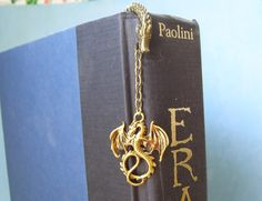 Golden Dragon Bookmark by SnowflakesFromNH on Etsy $10