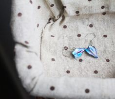 Papercrafted Paper Plane Earrings by PaperStoryDesigns on Etsy, $13.97