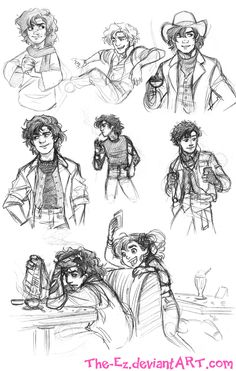 Gangfield Various Eras Sketches - July 2013 by The-Ez.deviantart.com on @deviantART