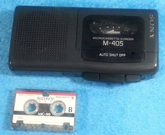 SONY M-405 Diktiergerät Dictaphone Microcassette Cassette-Corder Recorder Tested #Sony