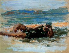 Pablo Picasso, Baigneuse sur la plage, 1920 on ArtStack #pablo-picasso #art