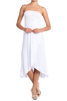 Black Friday 2014 Modern Kiwi Solid Versatile High Low Dress Skirt White Medium from Modern Kiwi Cyber Monday Beach Dresses, Summer Dresses, Formal Dresses, Black Friday Dresses, Sexy Beach Wear, White Skirts, Night Gown, Dresses For Sale, Dress Skirt