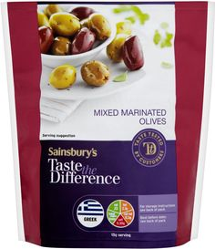 Sainsbury's Taste the Difference Mixed Marinated Greek Olives (200g)